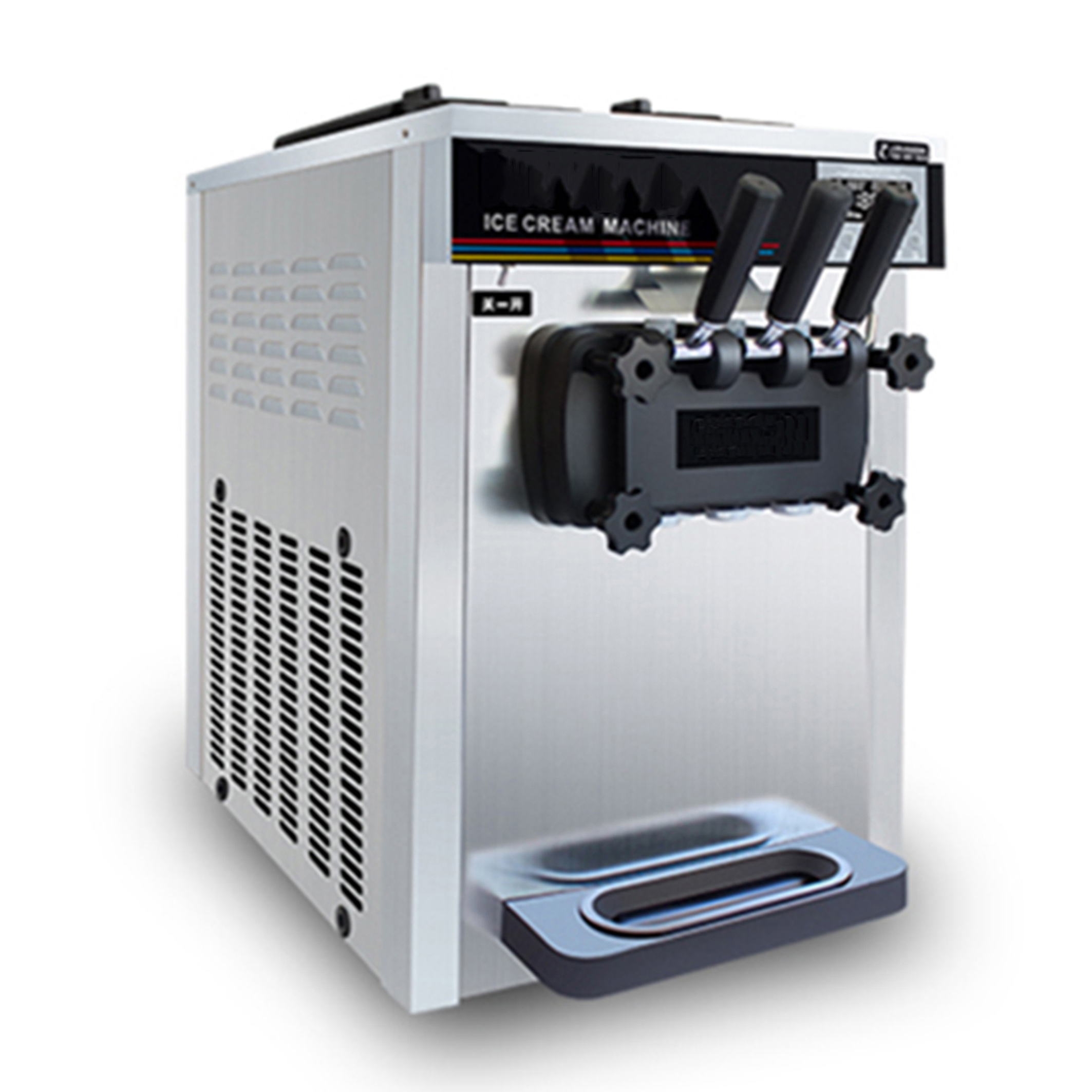 Commercial soft serve ice cream machine with pre-cooling optional