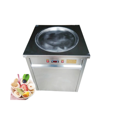 Ghana F400 Single Flat Pan Instant Thai Fried Ice Cream Roll Machine Commercial Thailand Fry Ice Cream Machine