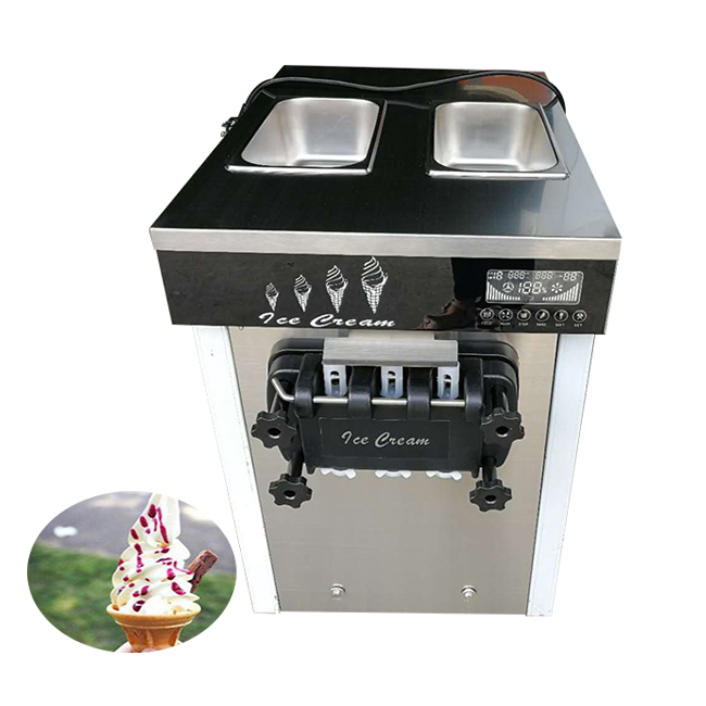 Ice cream shop frozen yogurt soft serve ice cream making machine