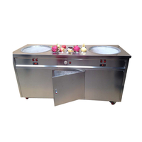 50cm Double Round Pan & 10 Precooling Pan Fried Ice Cream Machine F700
