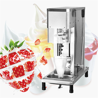 China new design mobile real food ice cream blender for cone ice cream